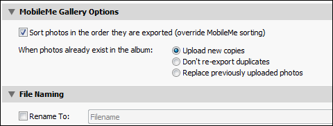 MobileMe Gallery Options