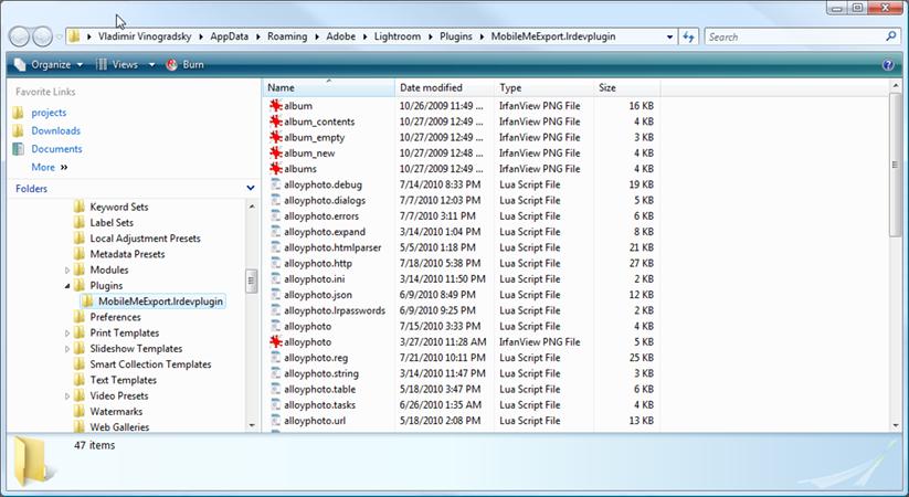 MobileMe Plug-in Installation Instructions - alloyphoto