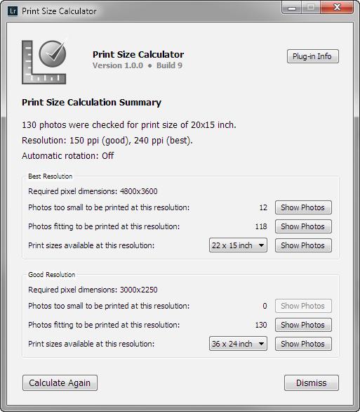 Using the Print Size Calculator Plug-in - alloyphoto